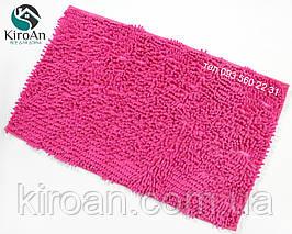Мягкий коврик в ванную комнату Лапша (макароны) 49х79см Розовый