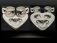 """Декоративный кофейный набор """"Кофе с любовью для двоих"""""""