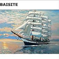 Живопись по номерам 40*50 Парусник, картина акрил H 313, раскраска по номерам