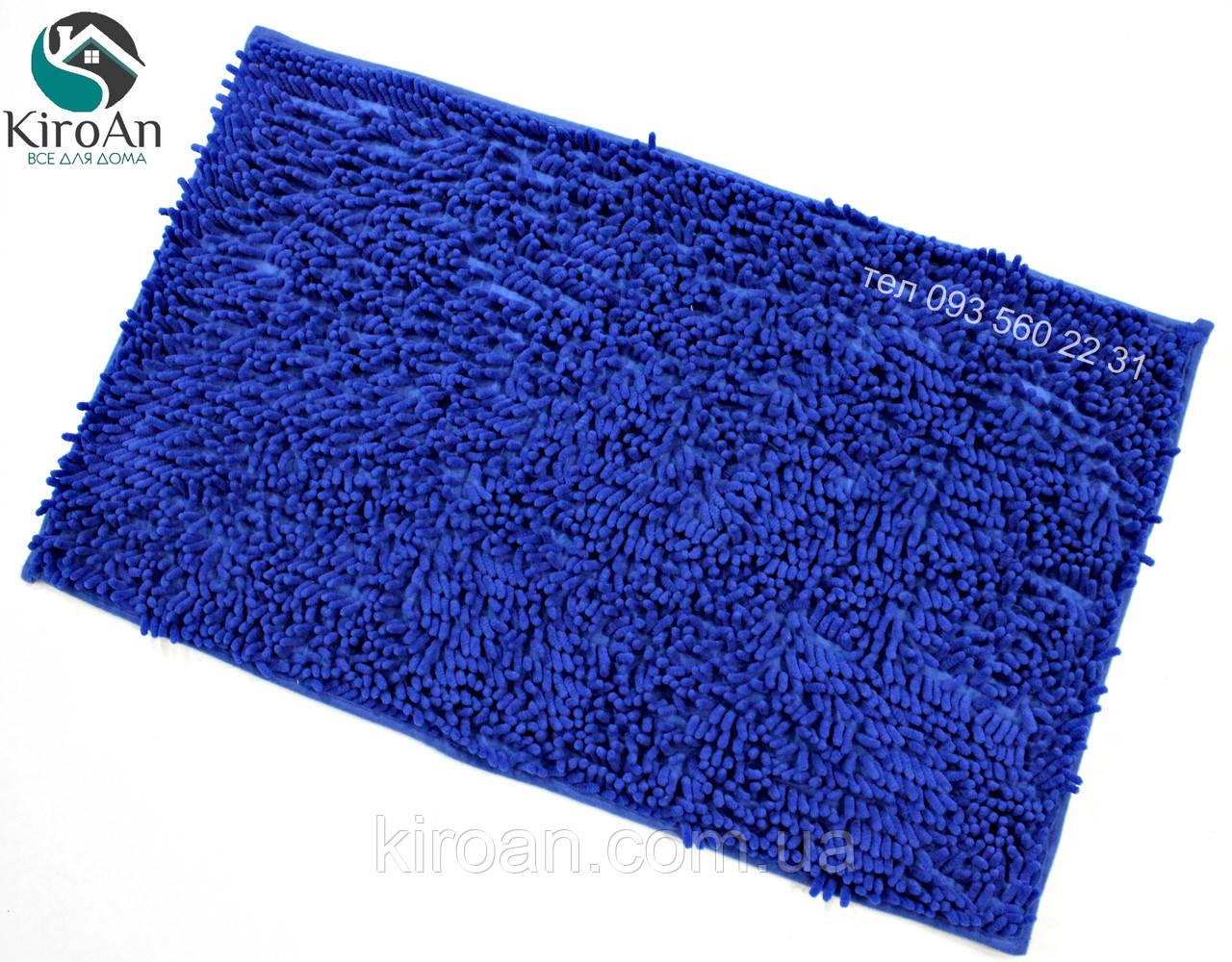 Синий коврик из микрофибры Лапша (макароны) 49х79см Синий