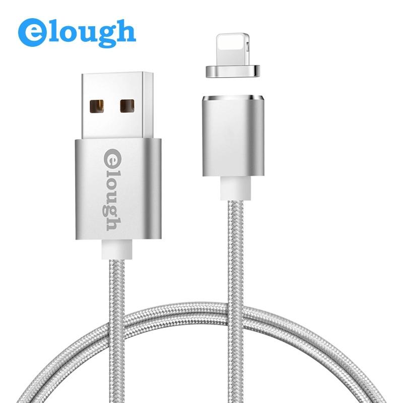 Elough E04 магнитный кабель Lightning для iPhone. Серебристый. Лучшее качество!
