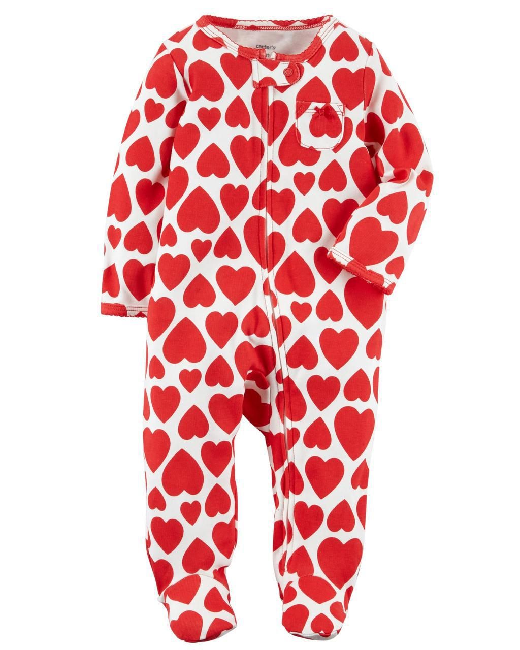 Человечек хлопковый на молнии Carters для новорожденной девочки до 55 см