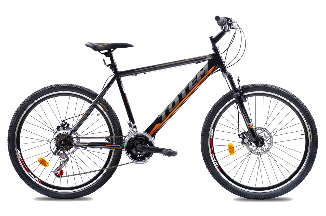 """Горный велосипед TOTEM MTB Bright 26"""" Черный/Оранжевый"""