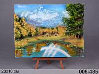 """Полотно декор. """"горное озеро"""", 21 х 26 см"""