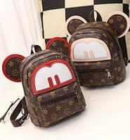 Женский мини рюкзак с ушками