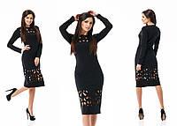 Женское платье с выбитым орнаментом