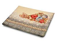 Скатерть гобеленовая новогодняя с золотым люрексом 137х240 см