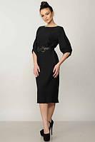 Платье Меган c ремнем черное