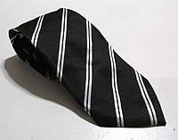 Галстук черный с белым Marks&Spencer, шелк, 8 см, Как Новый!