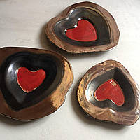 Сердце. Декоративная керамика. Авторская работа.
