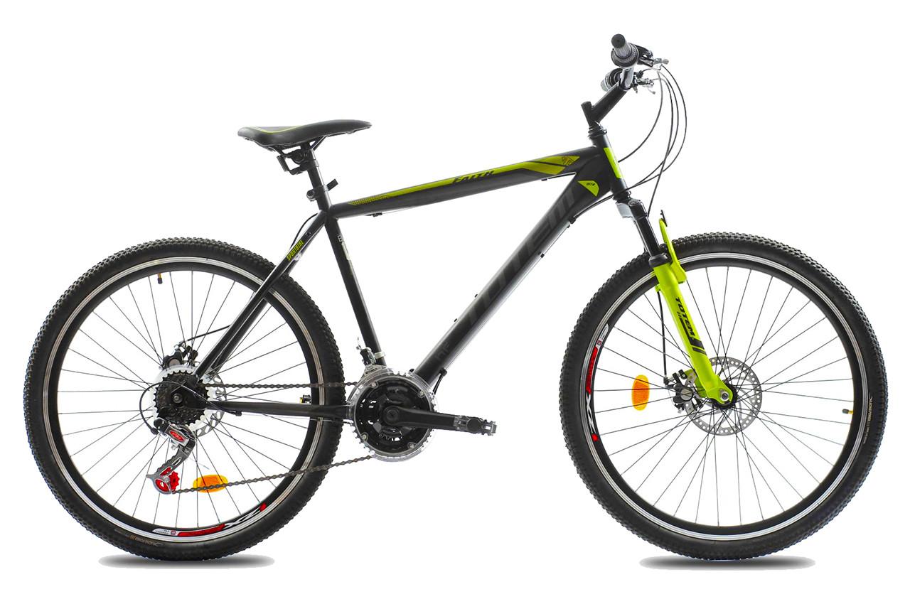 """Горный велосипед TOTEM MTB FAITH 26"""" Черный/Салатовый"""