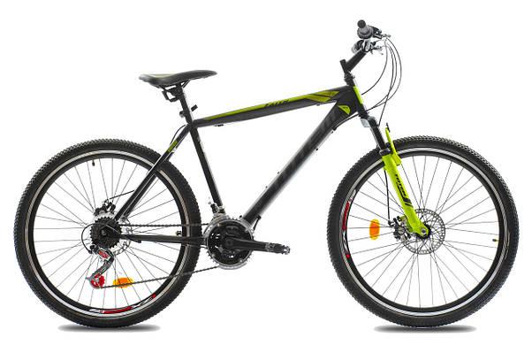 """Горный велосипед TOTEM MTB FAITH  26"""",15"""", 17""""Черный/Салатовый"""