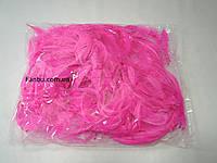 Декоративные ярко розовые перья в пакете(1уп 120-130перьев)