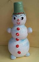Керамический снеговик, 26-28 см., 75 гр.