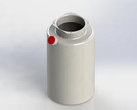 Бак масляный (гидробак) 4 л / Oil tank 4 lt / Plastic tank 4 lt