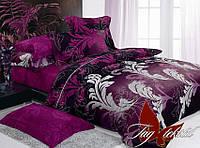 Комплект постельного белья ТМ TAG 1,5-спальный, постельное белье полуторка с компаньоном R7054
