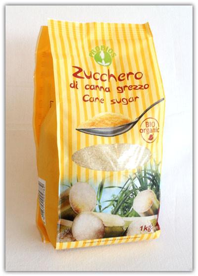 Коричневый (неочищенный) сахар тростниковый россыпной Zucchera grezza di canna, 1 кг.