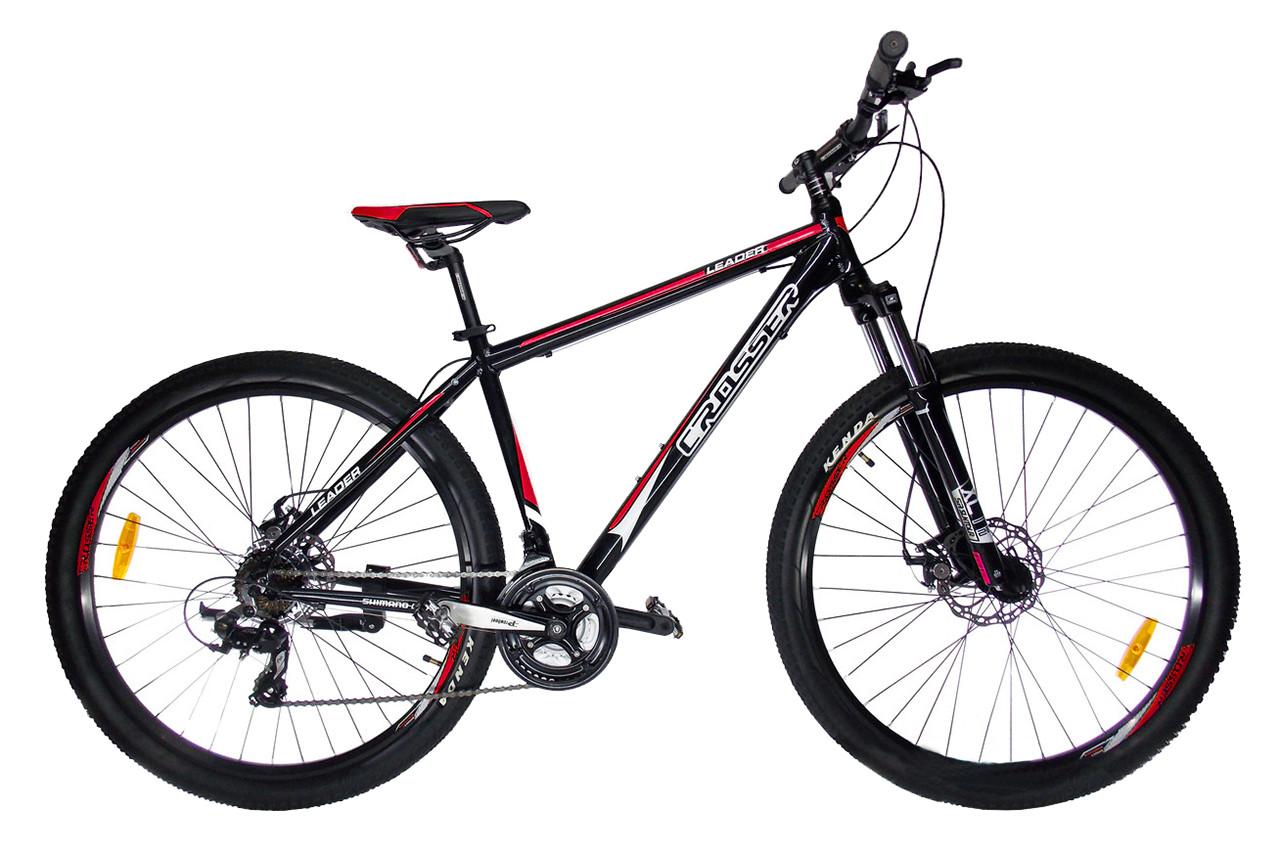 """Горный велосипед CROSSER  LEADER  29"""", 19""""  Черный / Красный"""