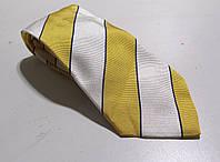 Галстук Duetz желт белый, шелк, 8.5 см, Как Новый!