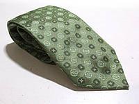 Галстук DUETZ зеленый, шелк, 9 см, Как Новый!