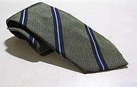 Галстук Duetz зеленые полоски, шелк, 8 см, Как Новый!