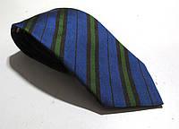 Галстук DUETZ синий с зеленым, шелк, 7.5 см, Как Новый!