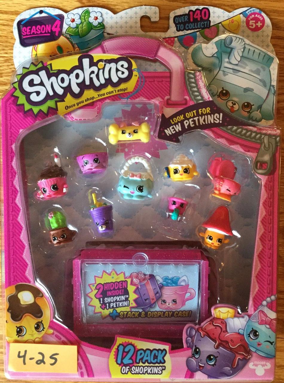 П, Игровой набор Shopkins Season 4 Шопкинс и чемоданчик  Оригинал