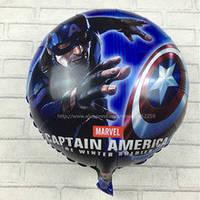 """Супермен """" Капитан Америка"""" Фольгированный шар 45 см."""