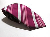 Галстук Duetz фиолетовый полосатый, шелк, 8 см, Как Новый!