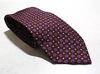 Галстук DUETZ фиолетовый в крапинку, шелк, 8 см, Как Новый!