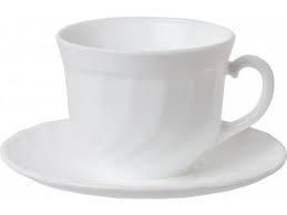 Набор чашек с блюдцами для капучино белый Luminarc Trianon 6х160 мл 51946