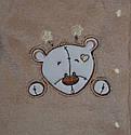 Комбинезон для новорожденных хлопковый велсофт Медвежонок (р. 50-74 см), фото 2