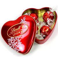 Конфеты Lindt Lindor «Сердце» из молочного шоколада, ж/б, 50 г. Италия , фото 1