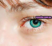 Turquoise CoolLon линзы бирюзовые для темных и светлых глаз