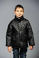 Куртка «Классика» весенне-осенняя для мальчика 7 лет (размер 32 / 122) ТМ MANIFIK Черный