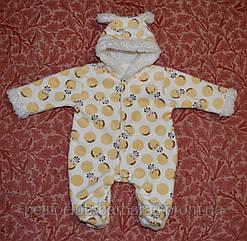Комбинезон махровый для новорожденных Жираф