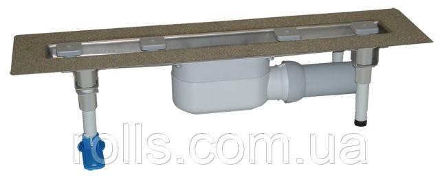 HL50F.0/60 Душевой лоток для отведения воды с сифоном DN50, с материалом для монтажа, без решётки. (Австрия)