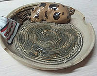 Пепельница из керамики, диам. 12 см., 35 гр.