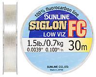 Флюорокарбон Sunline SIG-FC 30м 0.10мм 0.7кг поводковый