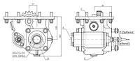 Коробка отбора мощности FHER Eaton нижняя, 8 болтов, реверсивные шестерни