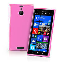 TPU чехол для Microsoft Lumia 1520 Розовый (Soft touch)