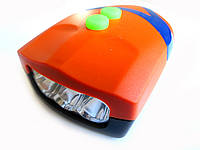 Велосипедная фара с звонком YC 037 3LED  Оранжевый