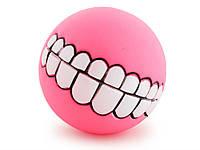 Мячик игрушка для животных Улыбка Smile  Розовый