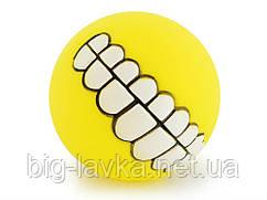 Мячик игрушка для животных Улыбка Smile  Желтый