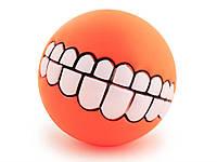 Мячик игрушка для животных Улыбка Smile  Оранжевый