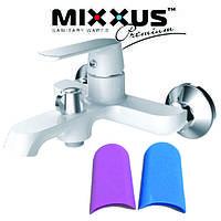 Смеситель для ванны короткий нос MIXXUS Tiger Euro White(белый) (Chr-009), Польша