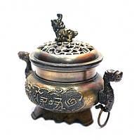 Чаша богатства с драконами (под бронзу)