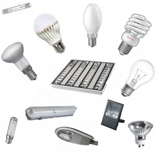 Лампы, светильники, прожектора