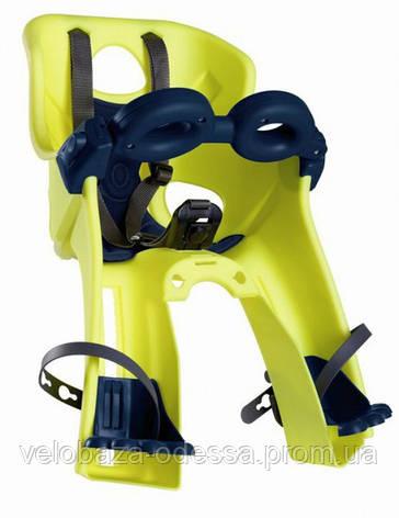 Сиденье пер. Bellelli Freccia Standart B-fix до 15кг, неоново-жёлтое с чёрной подкладкой (Hi Vision), фото 2