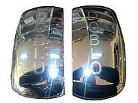 Хромированные накладки на зеркала Fiat Doblo пластик